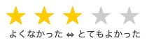 星形の5段階評価のイメージ
