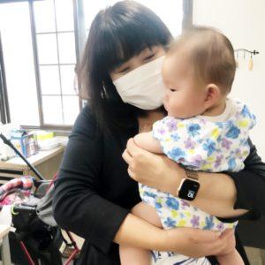 テレワーカーさんが赤ちゃんを連れて来てくれました