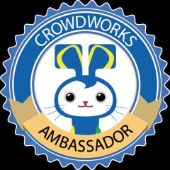 「クラウドワークスアンバサダー」ロゴ